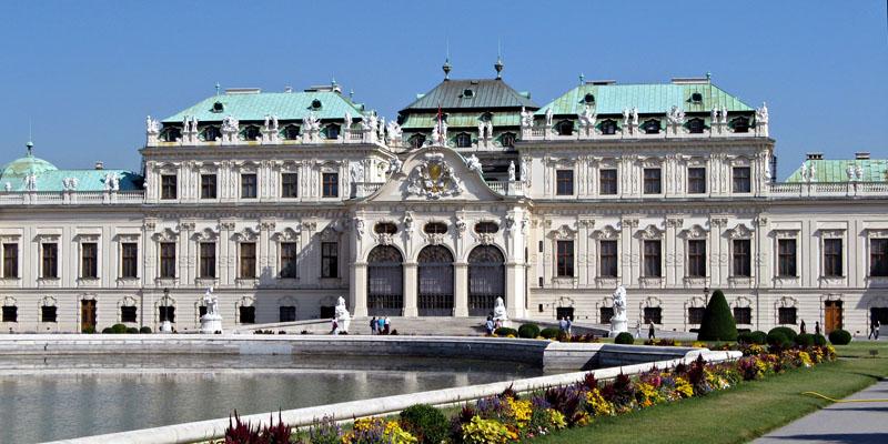 Museos de Viena: grandes exposiciones y galerías de arte tiene lugar en el Palacio Belvedere.